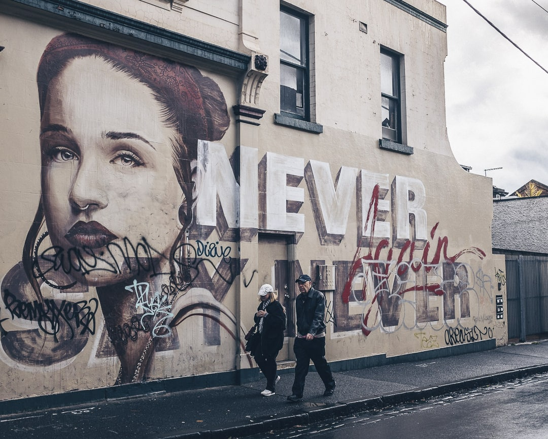 Oeuvre de Rone à Fitz Roy, Melbourne - Australie