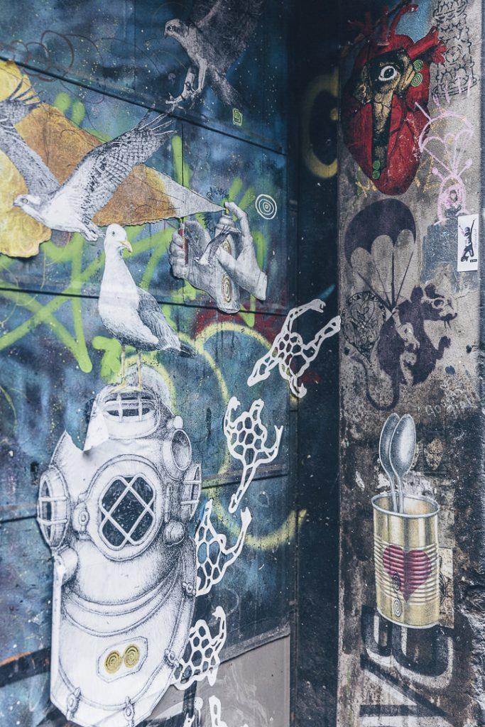 Street art - Pochoir Banksy ACDC lane - Melbourne, Australie