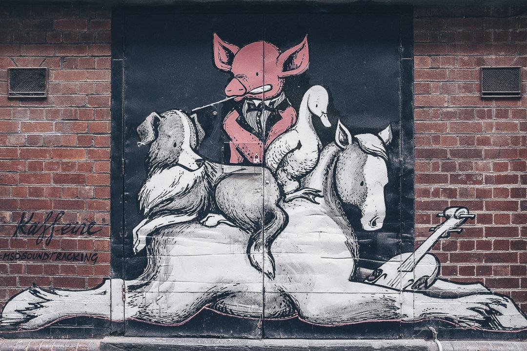 Babe vu par Kaffeine - street art Melbourne, Australie