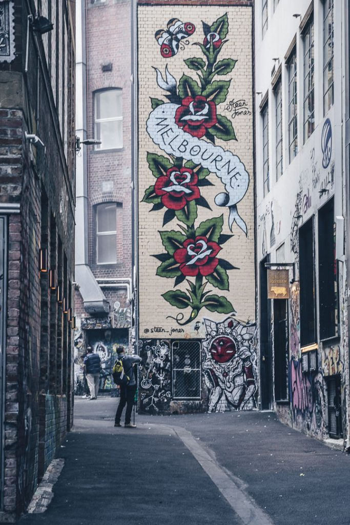 Oeuvre de Street art Melbourne - Australie