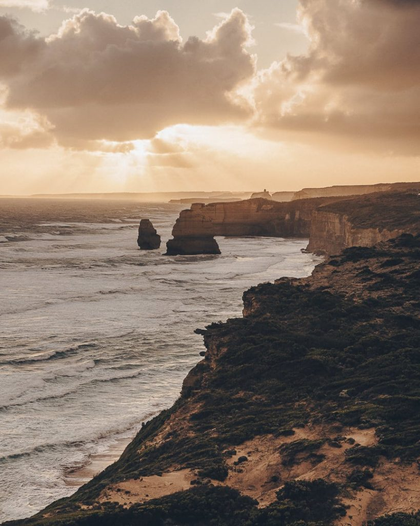 Coucher de soleil sur les 12 apôtres - Great Ocean Road, Australie