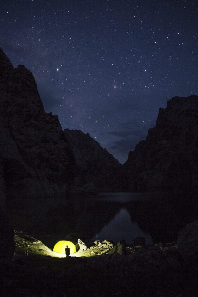 nuit étoilée au lac Köl-Suu - Kirghizstan