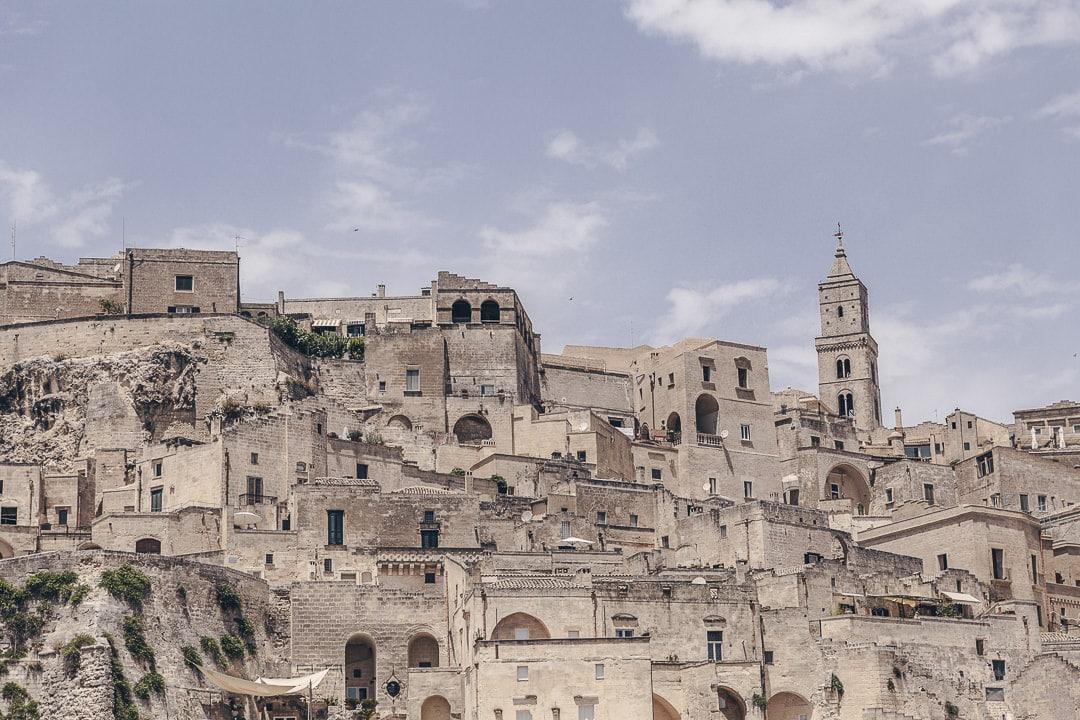 La ville de Matera dans le Basilicate, Italie
