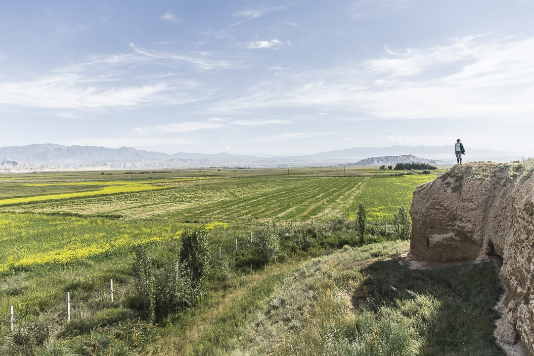 Haut de la forteresse d'At Bashi - Kirghizstan