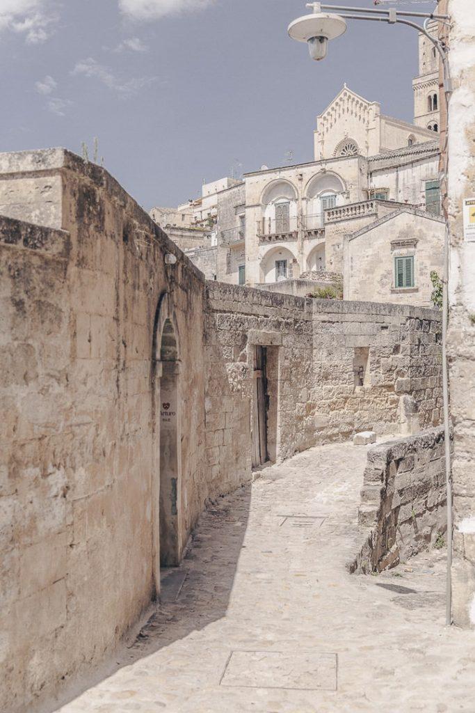Rue de Matera, ville troglodyte - Basilicate, Italie