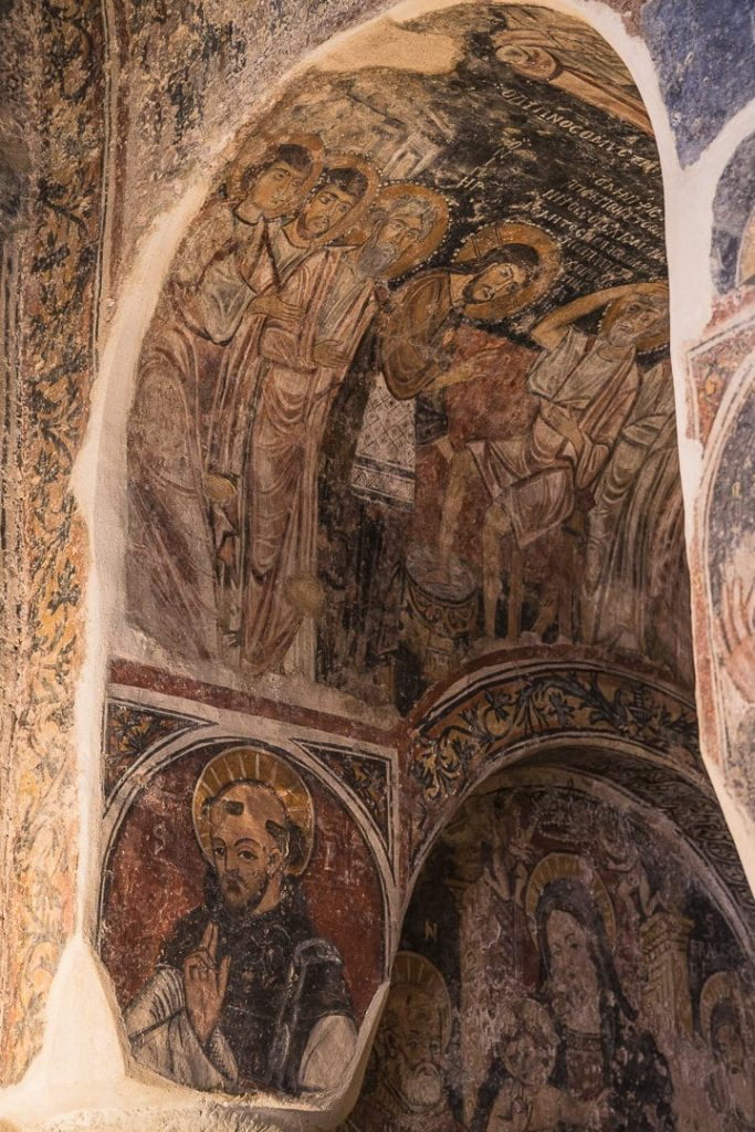 Frescoes in the chapel of Otranto - Apulia, Italy