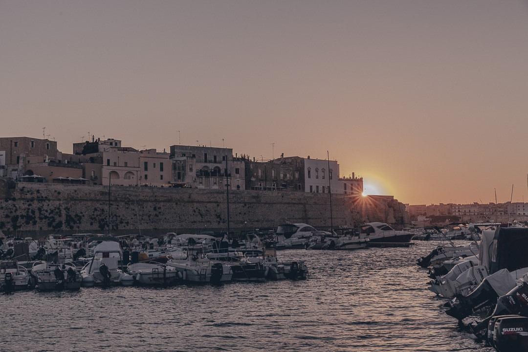 coucher de soleil sur Otrante - Les Pouilles, Italie