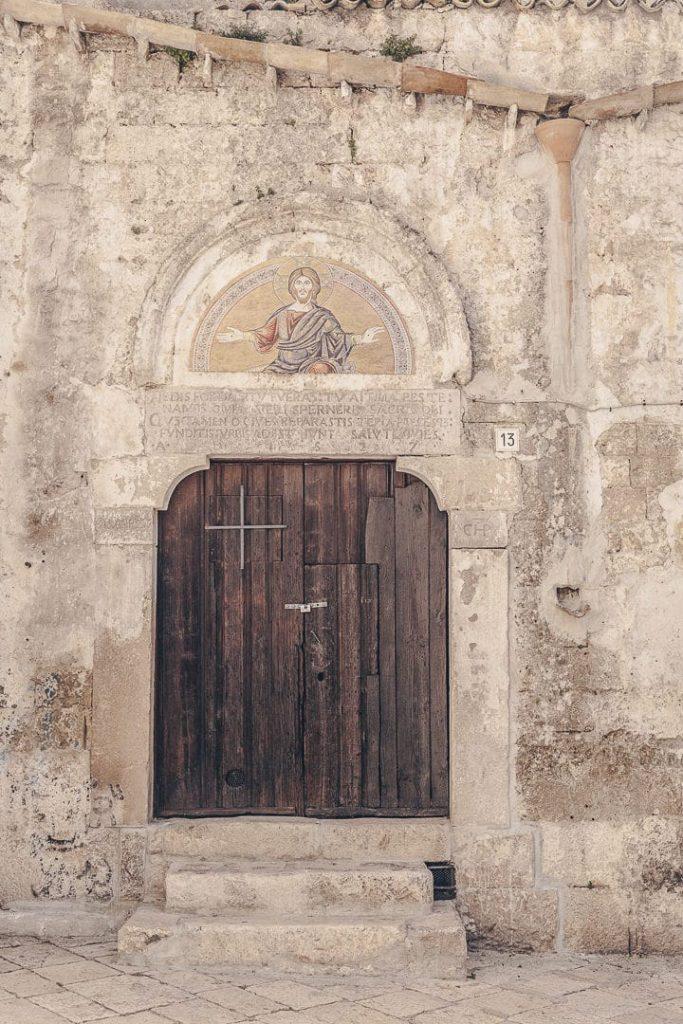 Porte d'une chapelle Atamura - Le Pouilles, Italie