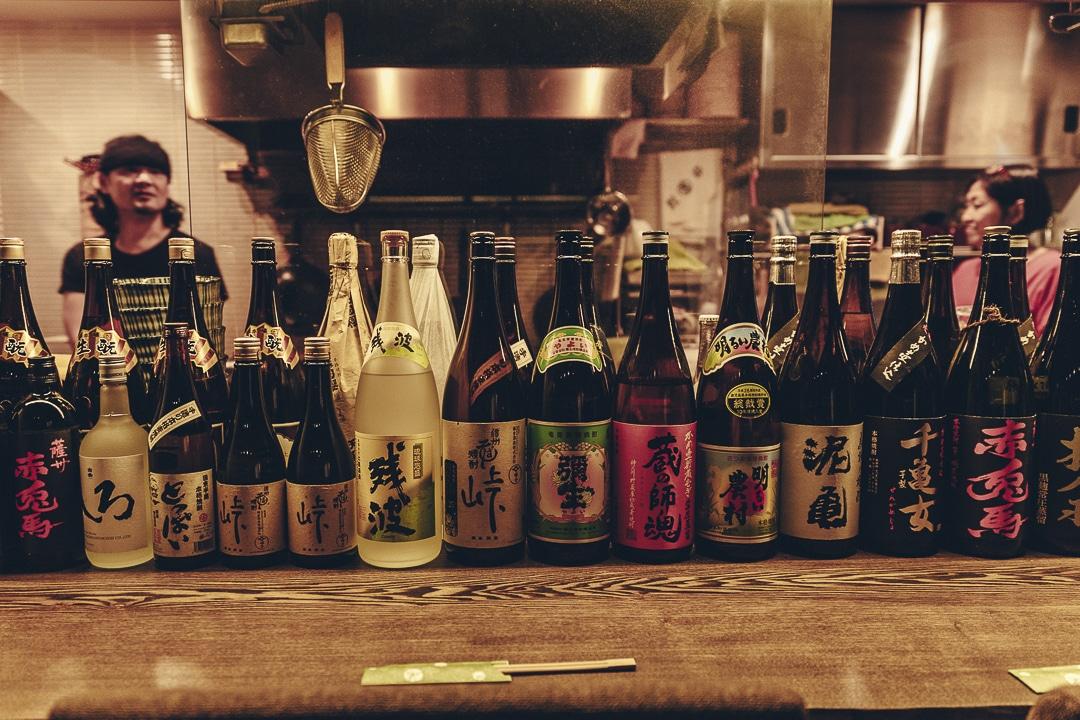 Choix de sake dans un restaurant de Tokyo #japon #asie