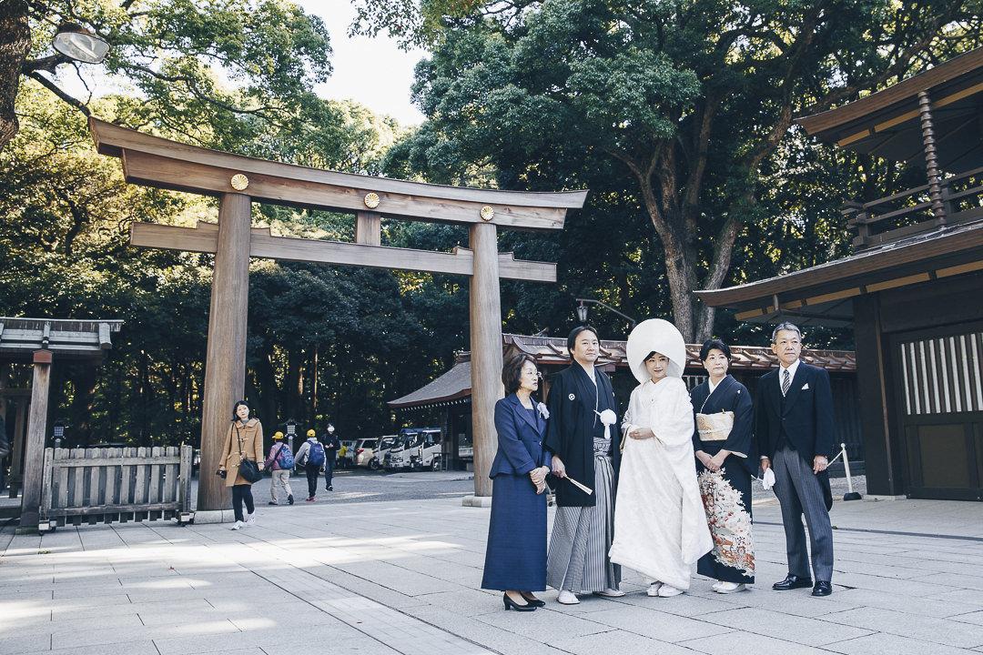 Photo de mariage au sanctuaire Meiji-Jingu, Tokyo #visitjapan #tokyo