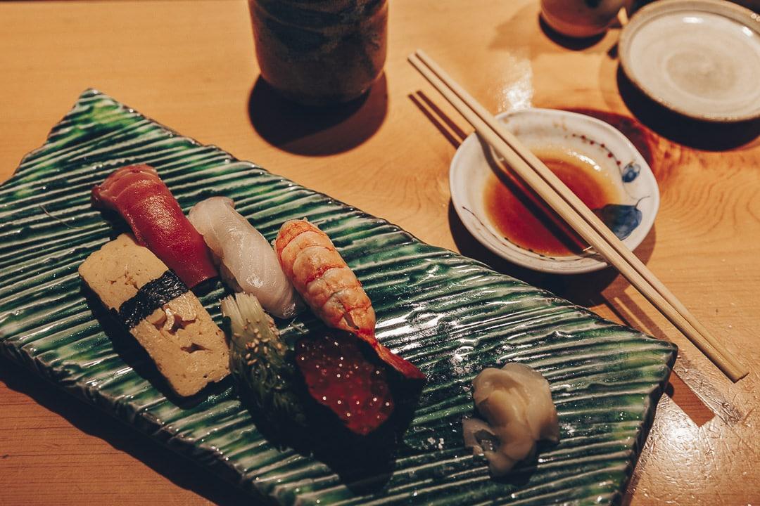 Mon assiette de sushis #tokyo #japon