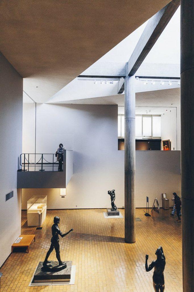 Architecture Lecorbusier du musée des arts occidentaux situé dans le parc Uneo à Tokyo #japon #asie #lecorbusier