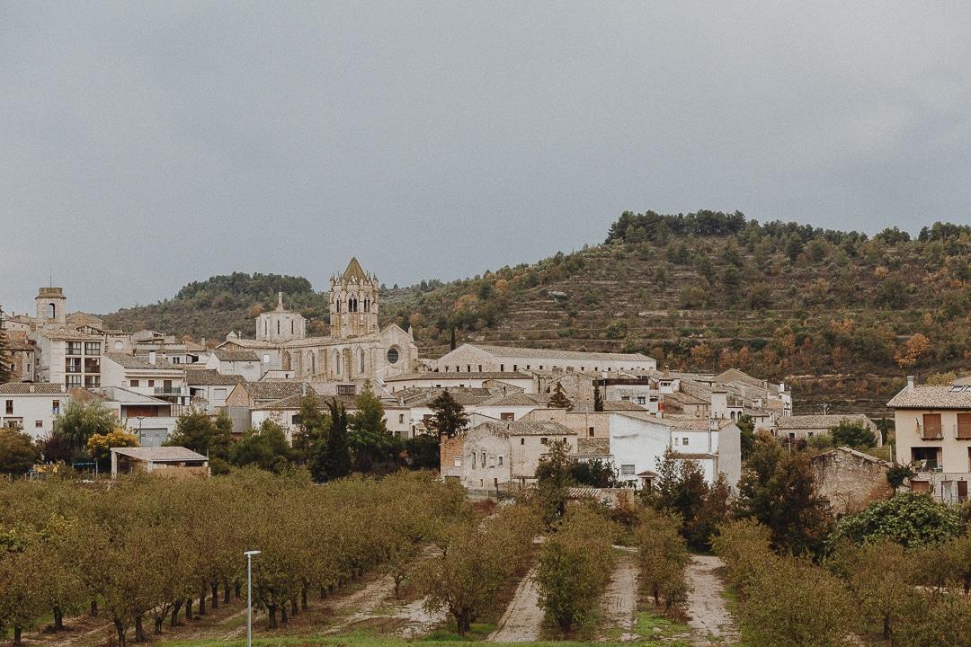 Vue sur le village de Vallbona de les Monges #catalogne #roadtrip