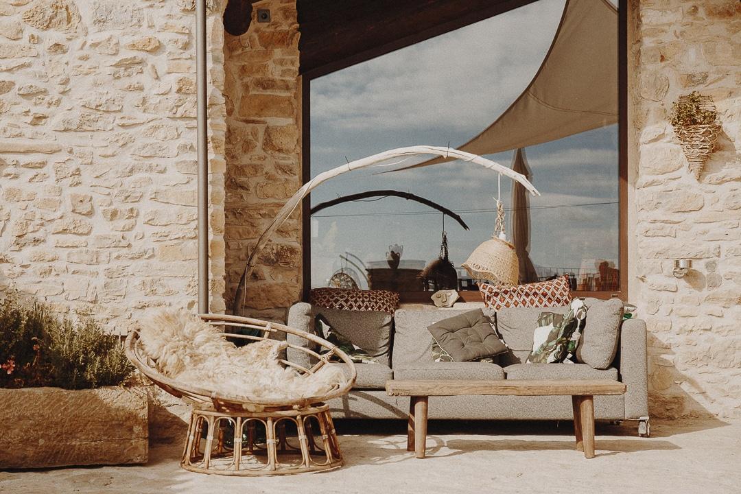 Sur la terrasse de la Casa Guilla à Santa Engracia #catalogne #roadtrip