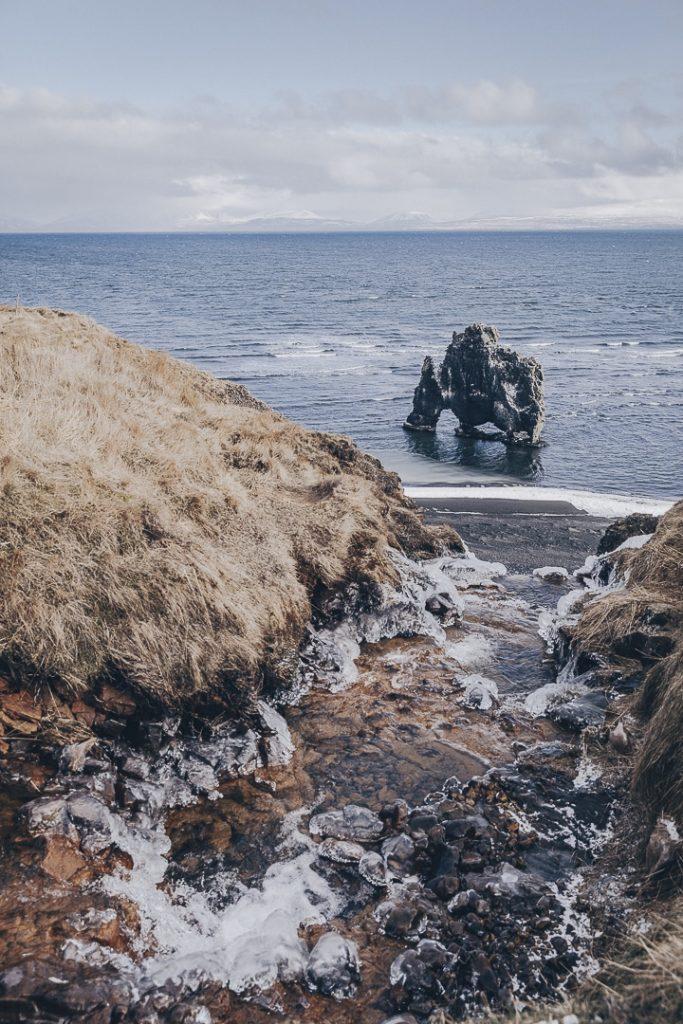 Où dormir pas cher en Islande sur la péninsule de Vatnsnes ? Hvitserkur #islande #vatnsnes