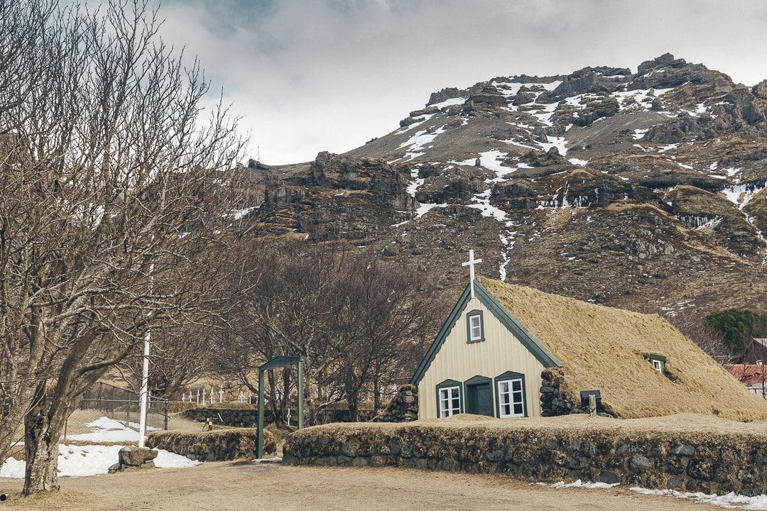 la petite église de Hof au sud de l'Islande #islande #roadtrip