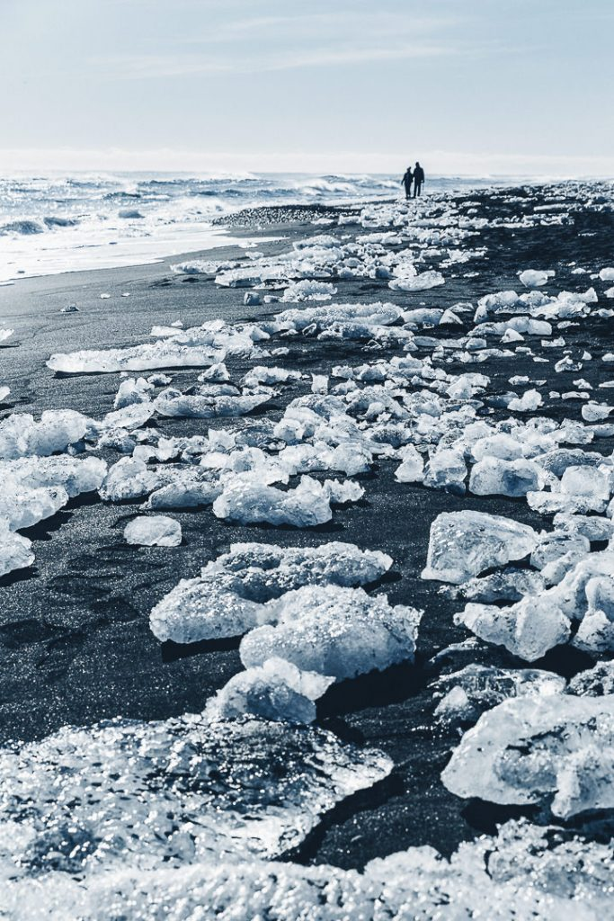 Les amoureux de Diamond beach #islande #roadtrip #diamondbeach