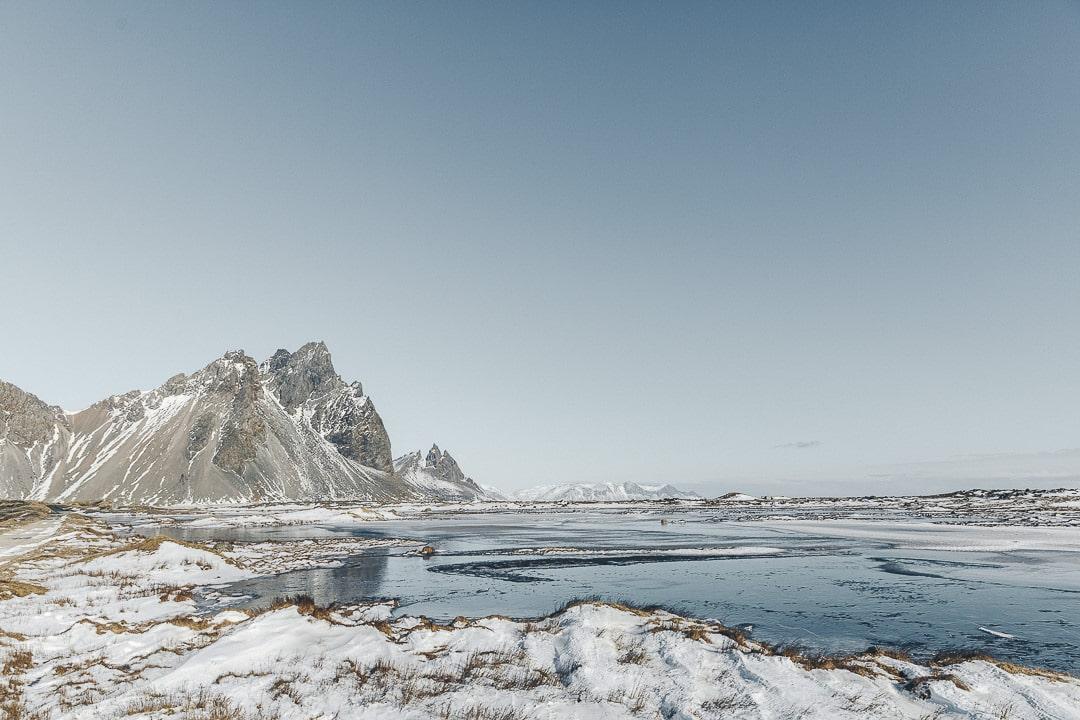 Plage de Stokksnes en Islande