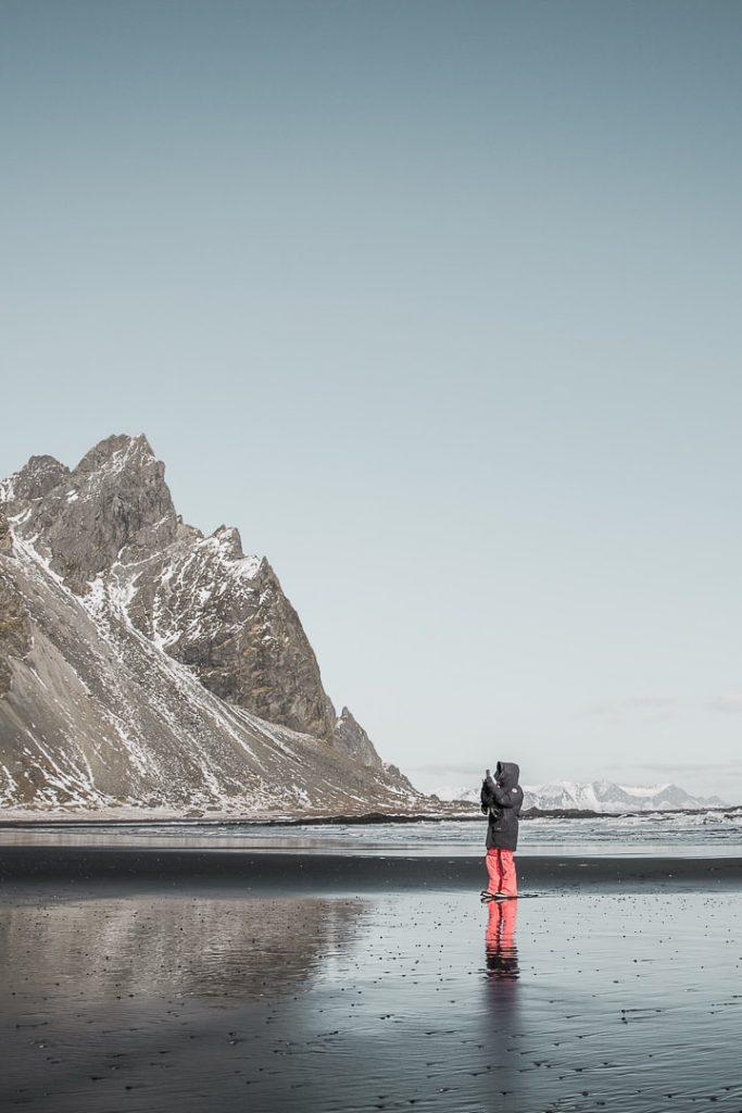 Plage de Stokksnes en islande #islande #roadtrip #stokksnes
