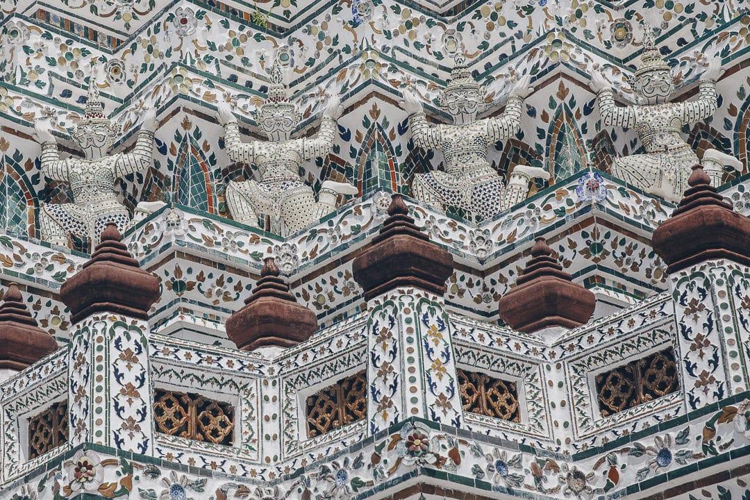 Détail du Wat Arun à Bangkok #thailande #bangkok