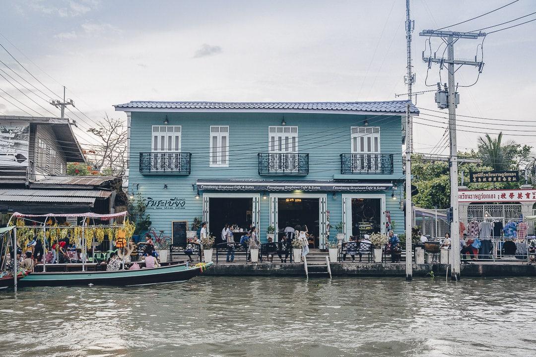 Jolie maison sur le marché flottant d'Amphawa vers Bangkok #thailande #bangkok