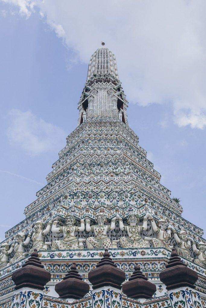 Wat Arun, un temple incontournable à visiter à l'occasion d'un stopover de 3 jours à Bangkok #thailande #bangkok