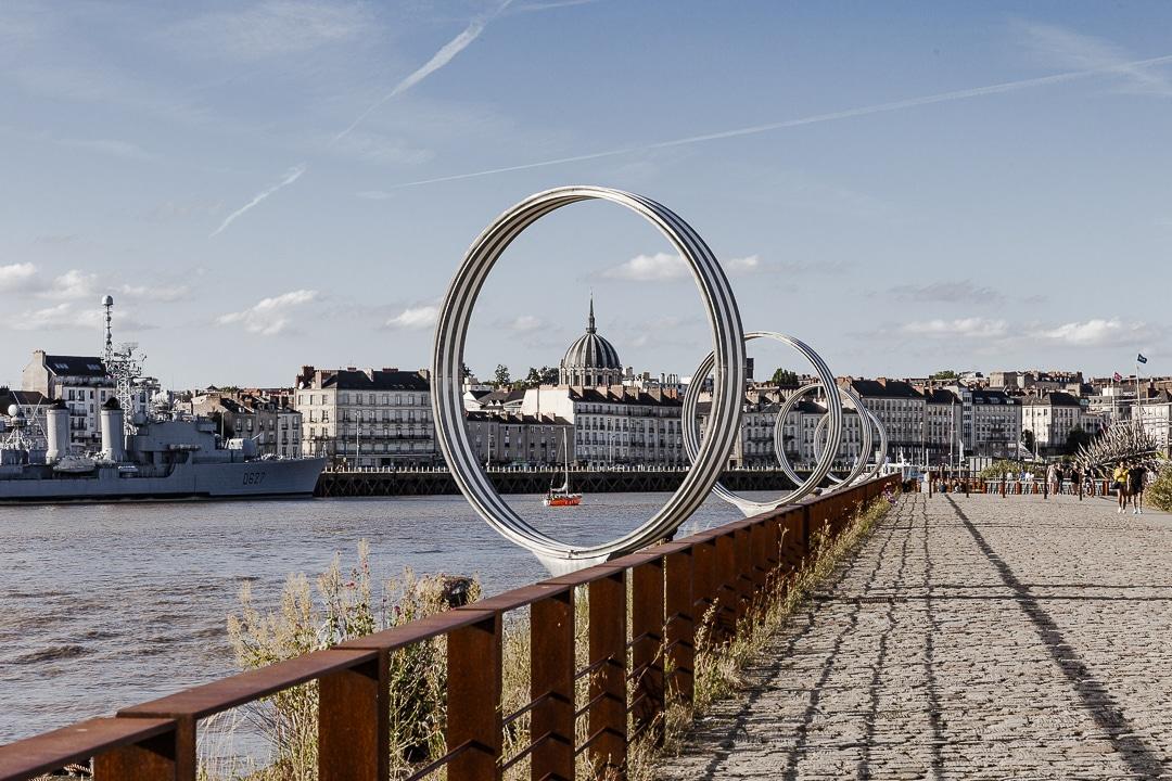 Les anneaux de Buren à Nantes #lvan #nantes