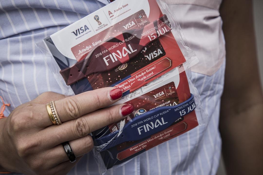 Bracelets développés pour la finale de la coupe du monde FIFA, Russie 2018 #paiementsanscontact