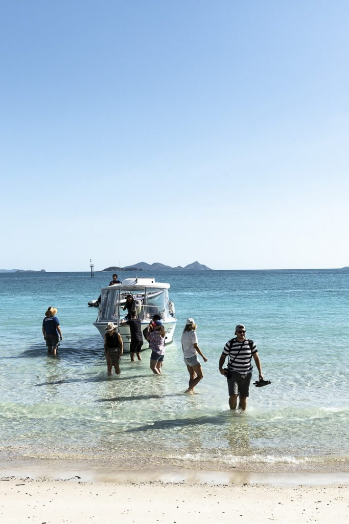 Arrivee sur Whitehaven beach #australie