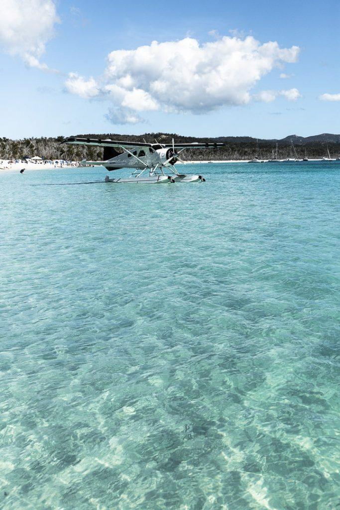 Hydravion sur Whitehaven beach #queensland #lovewhitsundays #australie