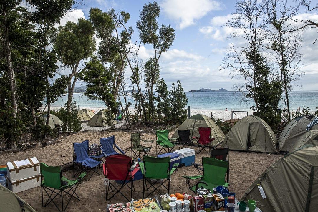 La camping de Whitehaven beach #australie #queesland