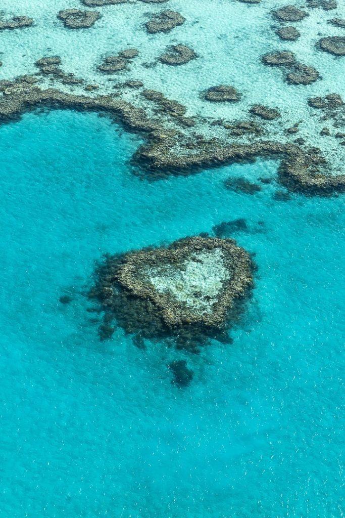 Survoler heart reef, ce récit en forme de coeur découvert dans les années 70 #australie #whitsunday