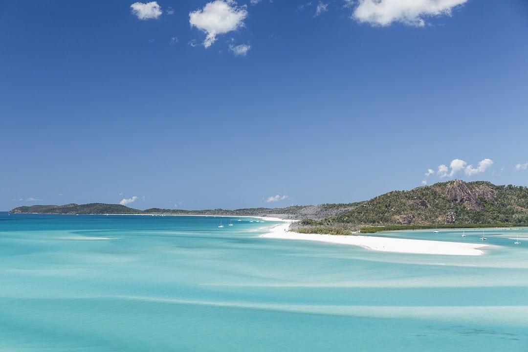 Vue sur Whitehaven beach la plus belle plage du monde depuis Hill Inlet #australie #queensland