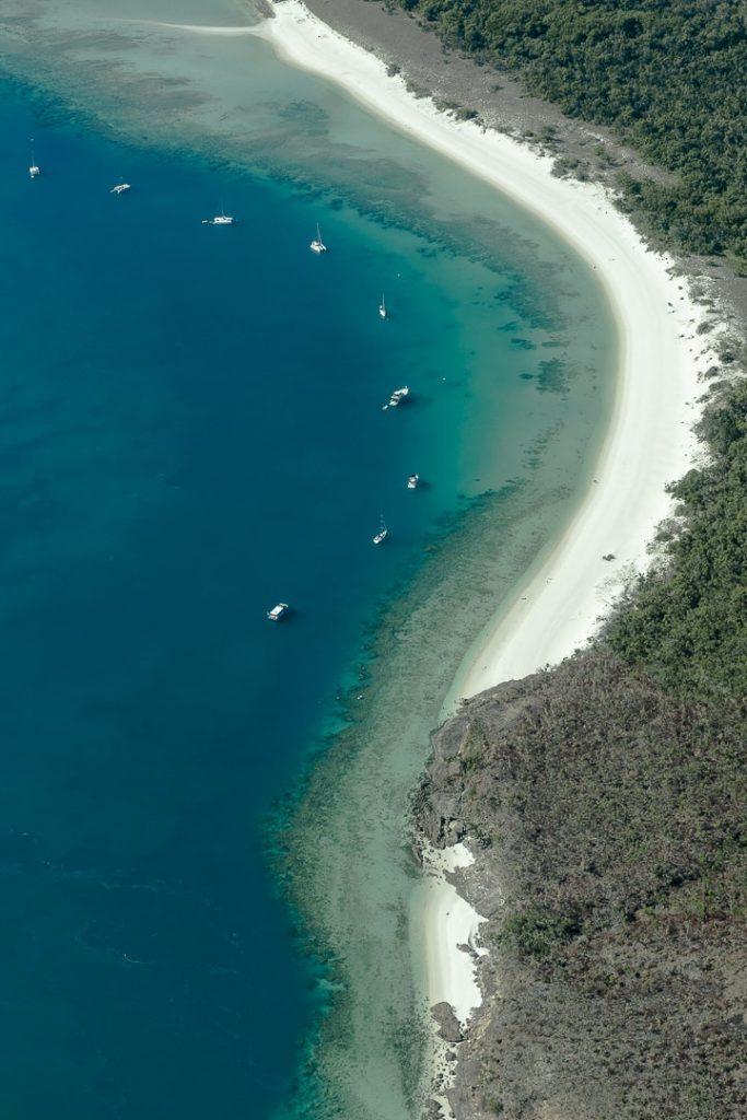 Whitehaven beach, une plage de sable blanc longue de 7 kilomètres #australie #whitehavenbeach #lovewhitsundays