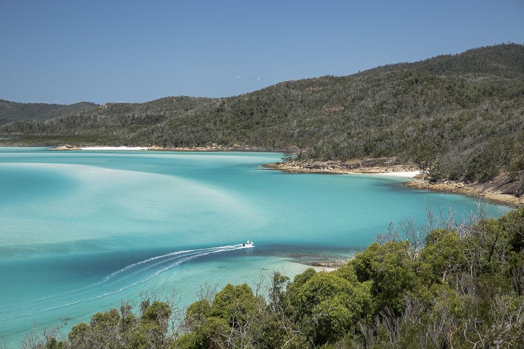 Vue sur Whitehaven beach depuis Hill Inlet #Australie #queensland