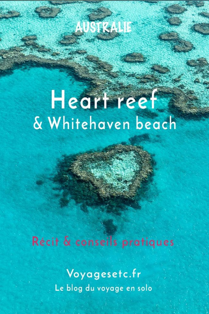 Survoler Heart reef et camper sur Whitehaven beach, la plus belle plage du monde #australie #queensland #whitehaven #heartreef