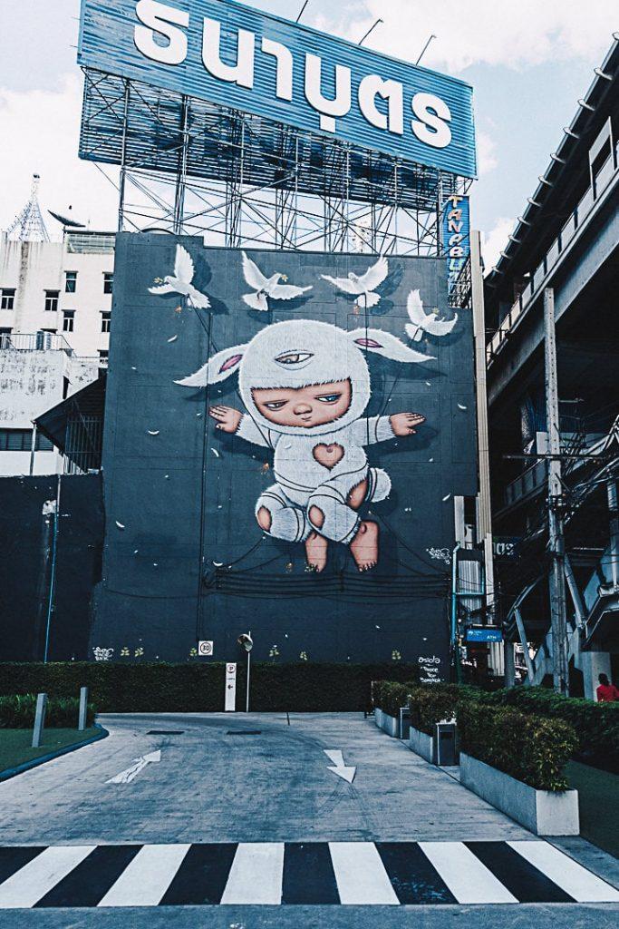 Alex Face, street art à Bangkok #thailande