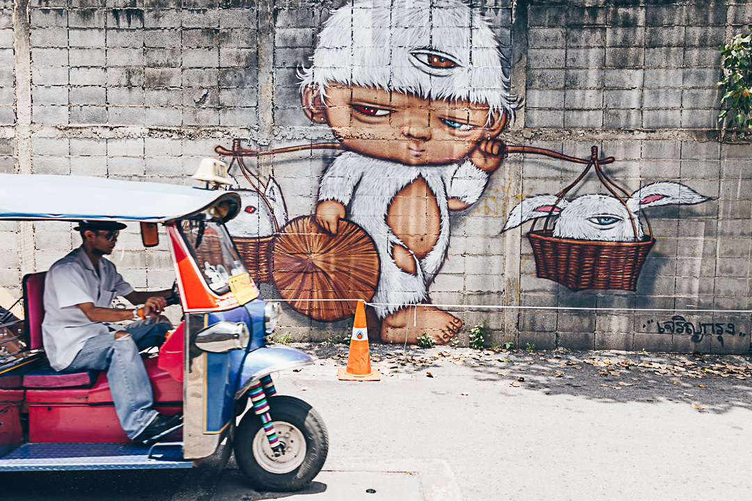 Tuk-Tuk et street art à Bangkok #thailande