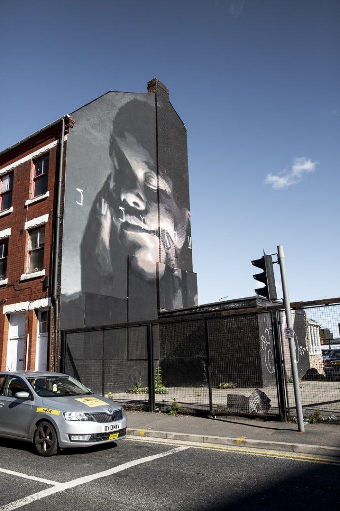 Oeuvre street art de Axel Void à Manchester #streetart #bestofmcr #lovegreatbritain