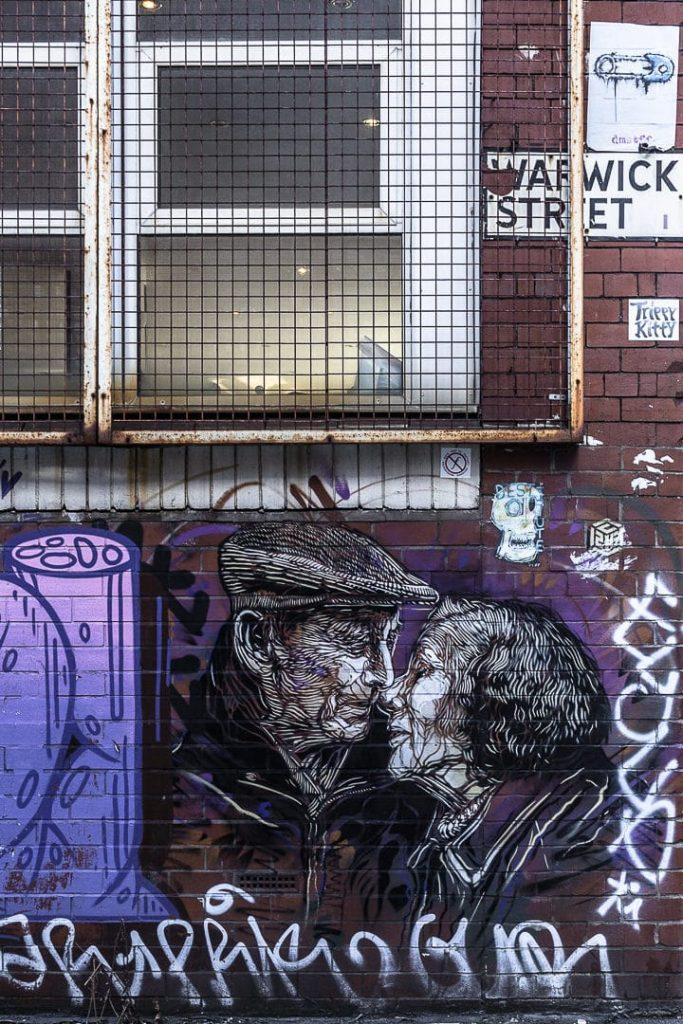 Oeuvre du français C215 inspirée d'une photo de Lee Jeffries #streetart #BestofMCR #lovegreatbritain
