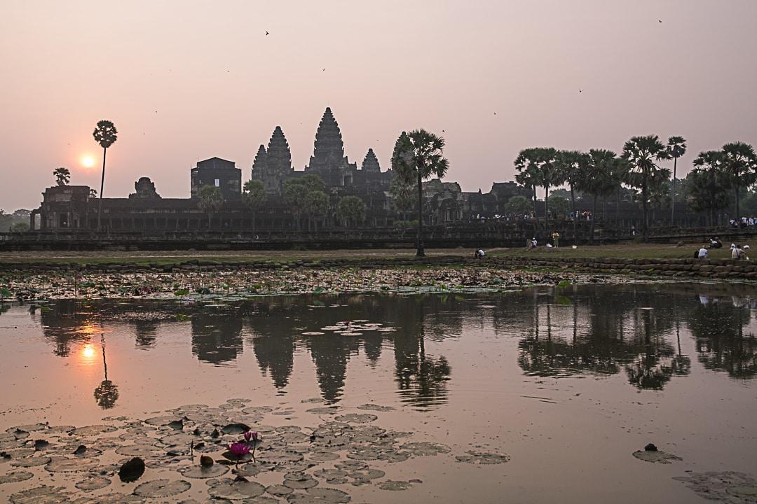 Lever de soleil sur Angkor Vat au Cambodge