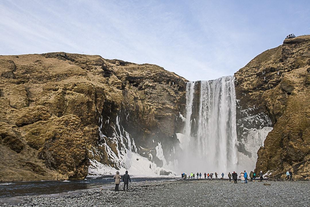 Cascade en Islande dans le cercle d'or