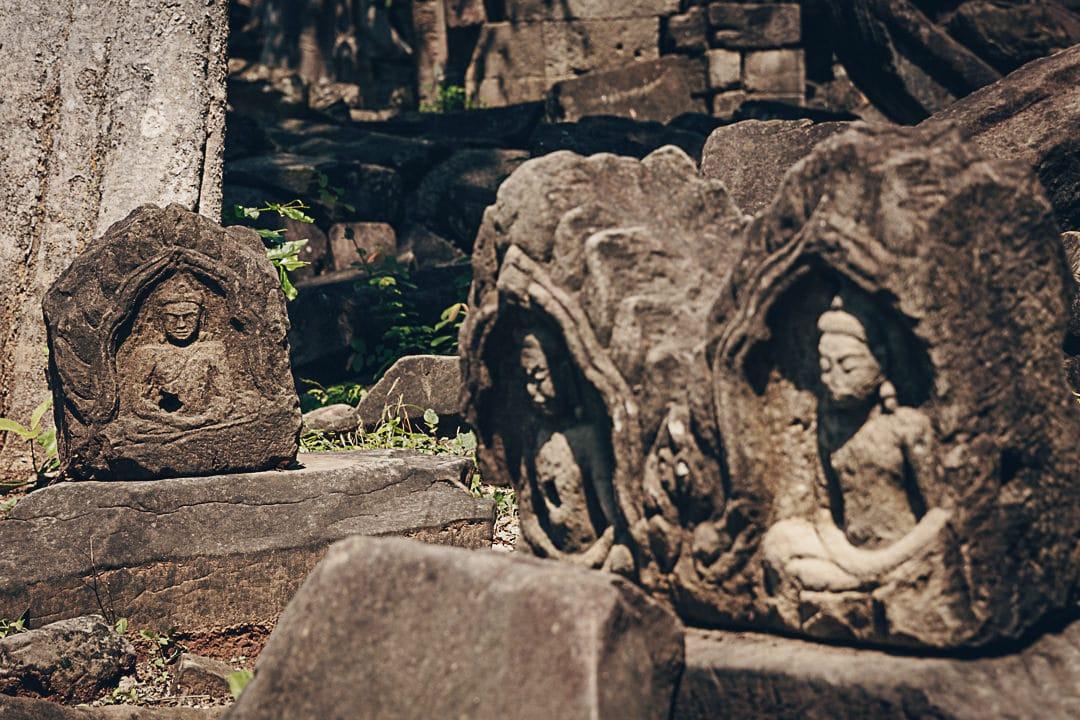 Dans le temple de Banteay Chhmar, cambodge