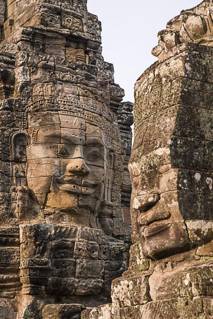 Temple Bayon à Angkor, Cambodge