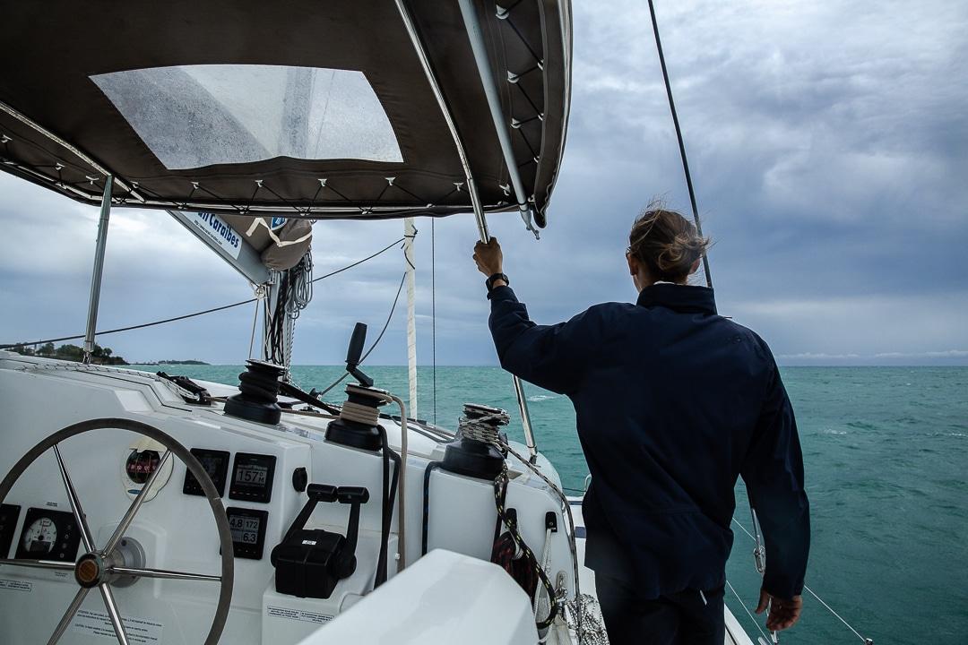 Catamaran en direction de Marie Galante #ilesdeguadeloupe