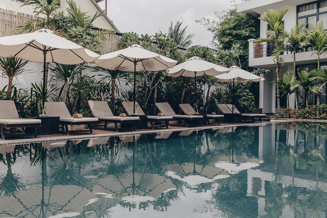 La rose blanche boutique, mon hotel à Siem reap au Cambodge. Une belle adresse en retrait de l'agitation du centre ville #cambodge