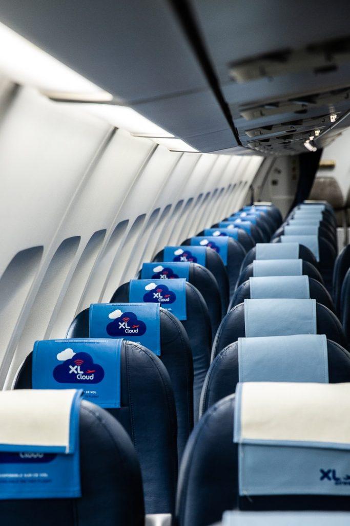 Intérieur de l'avion XL Airways produit XL cloud