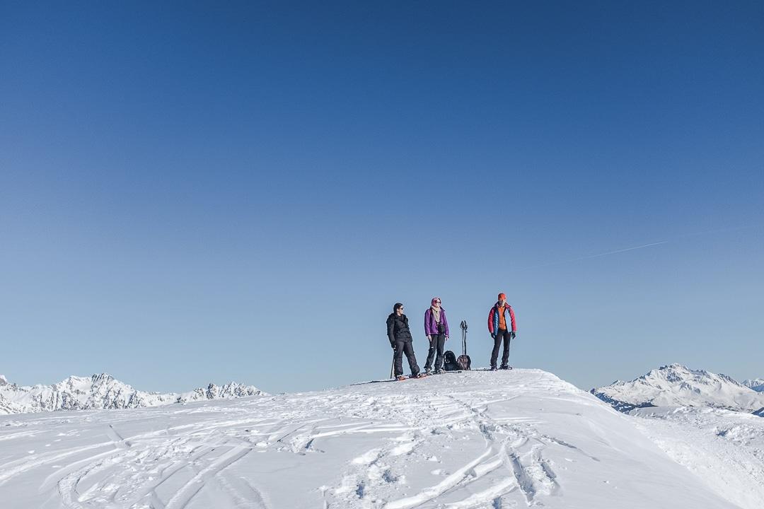 Au sommet du grand Truc, La Toussuire