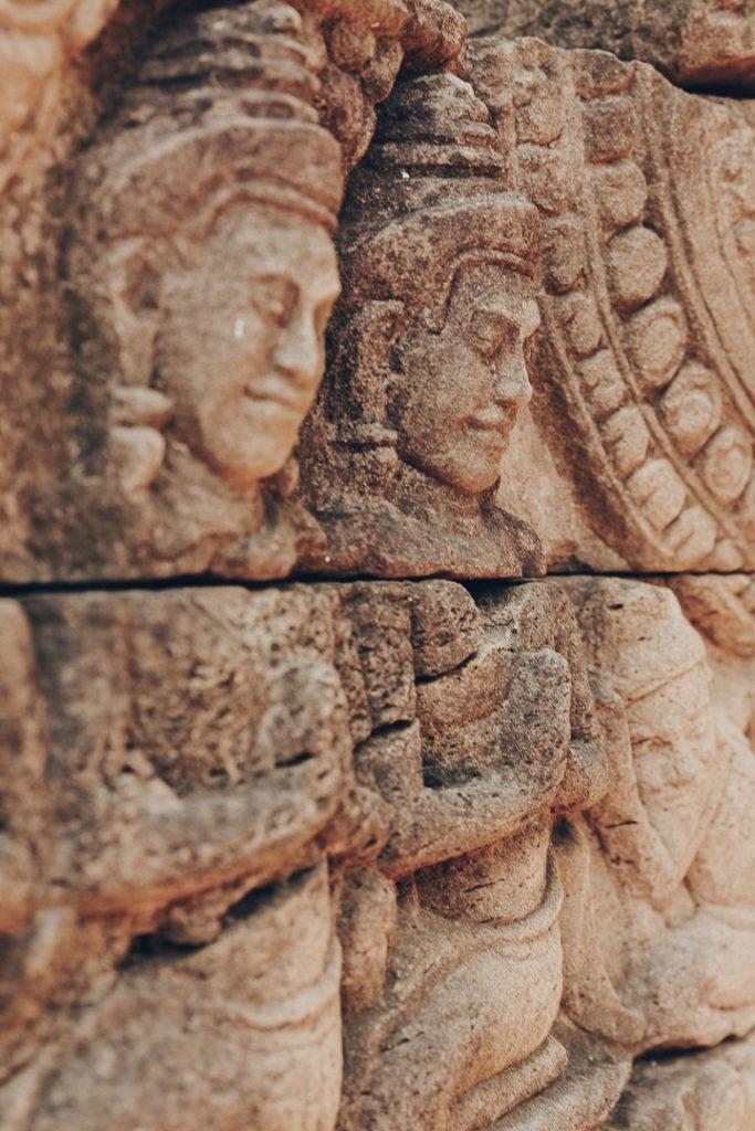 Détail du temple de Banteay Chhmar au Cambodge