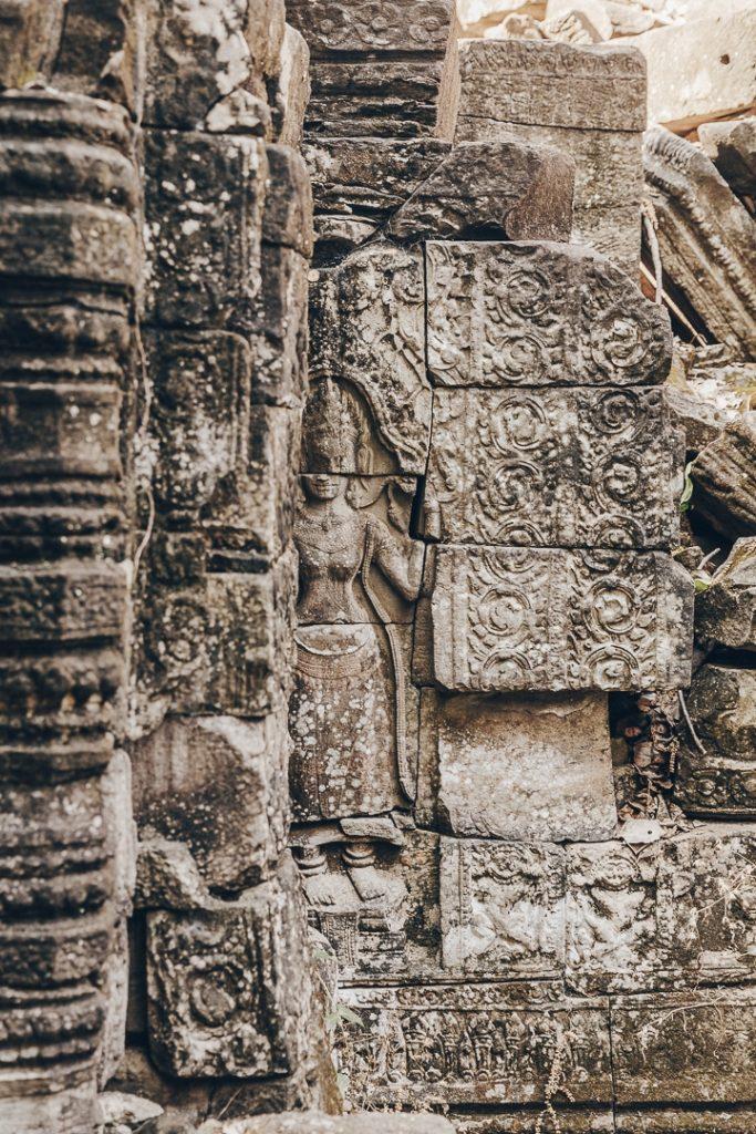 Détail du temple de Banteay Chhmar - Cambodge